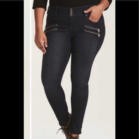79117f5bcd TORRID Premium Stretch Zip Jegging 24R